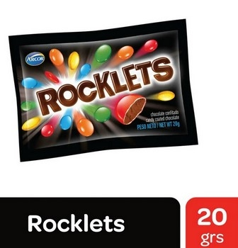 Arcor Chocolate Rocklets X 20g