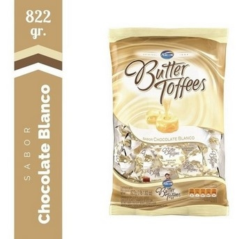 Arcor Caramelos Butter Toffees Chocolate Blanco X Kg