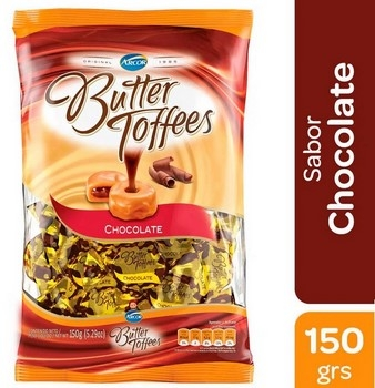 Arcor Caramelos Butter Toffees Chocolate X Kg