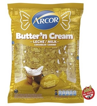 Arcor Caramelos Butter Toffees Cream X Kg