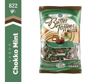 Arcor Caramelos Butter Toffees Black Mint X Kg